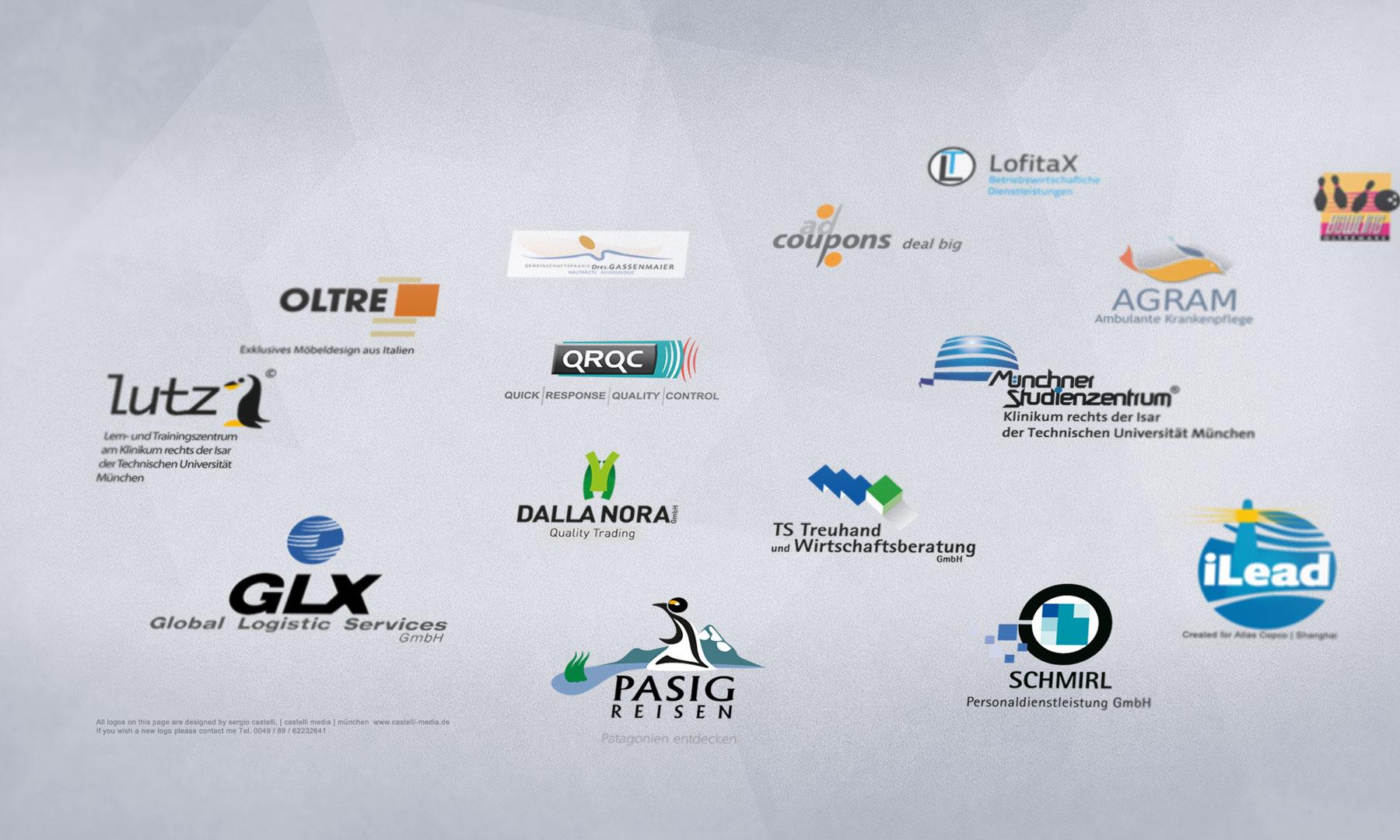 Beispiele von Logdesign und Logoredisign von CASTELLI MEDIA