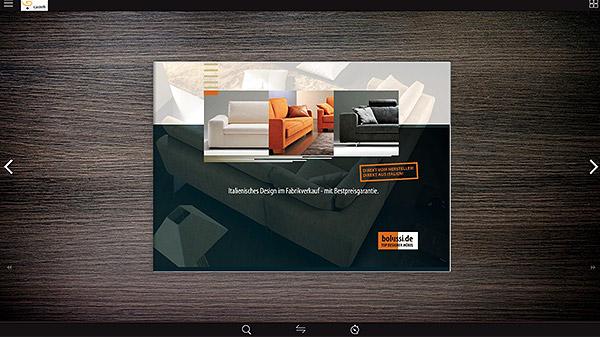 Bolussi design Broschüre Blätterkatalog