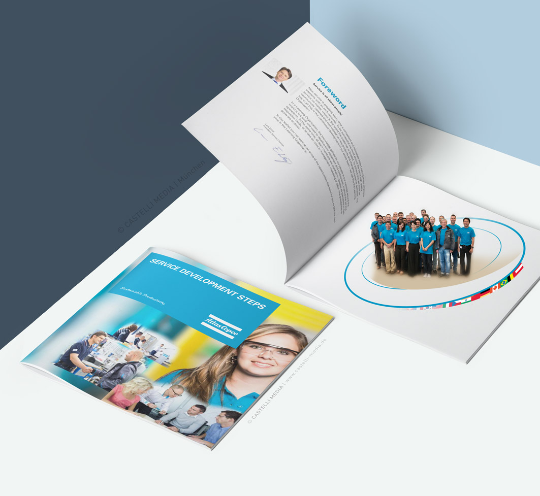 Broschuere Design fuer Atlas Copco