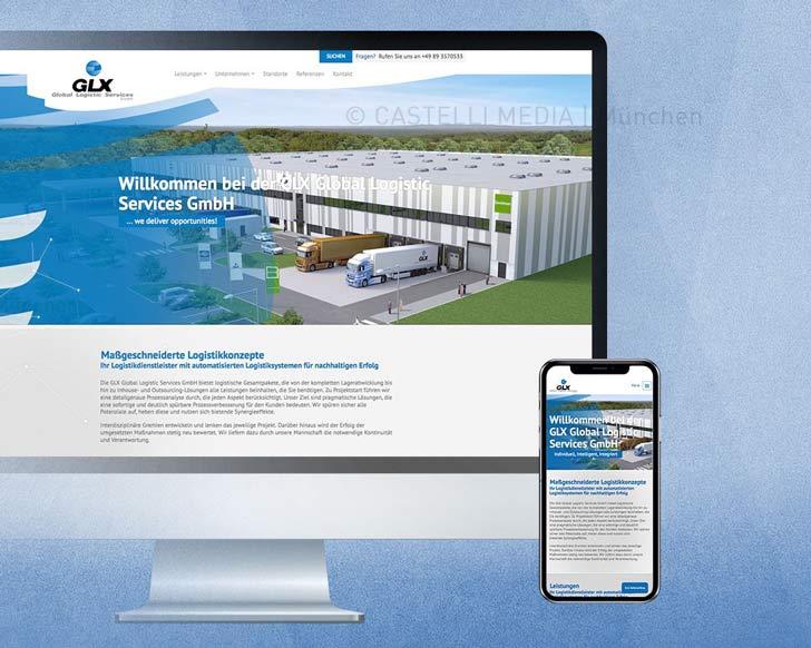 GLX Webseite Design