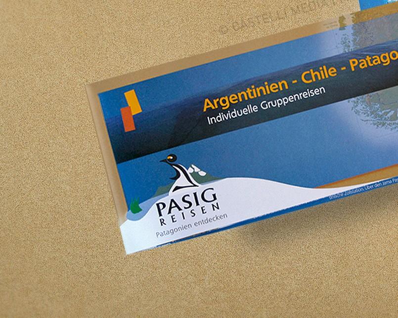 Flyer und broschüre einer Reiseveranstalter