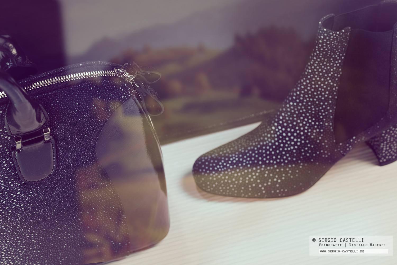 Produktfotografie Kunstleder Tasche und Schuhe