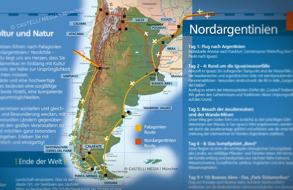 Infografik Suedamerika fuer einen Reiseveranstalter in Muenchen