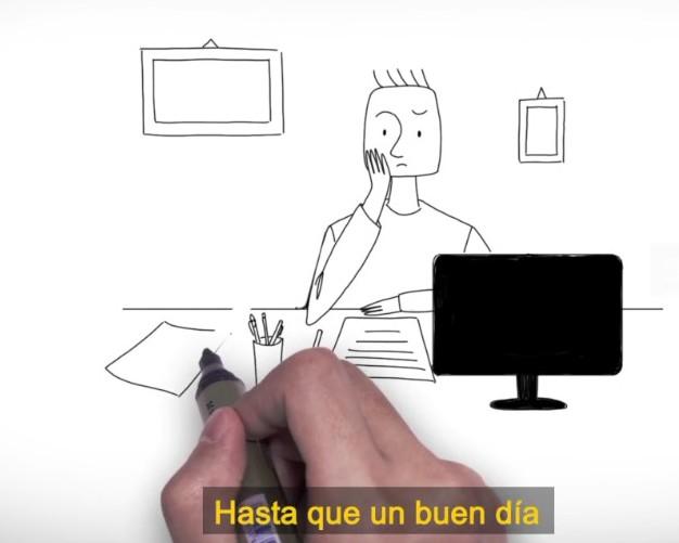 Hand zeichnert ein 2D-erklaervideoanimation