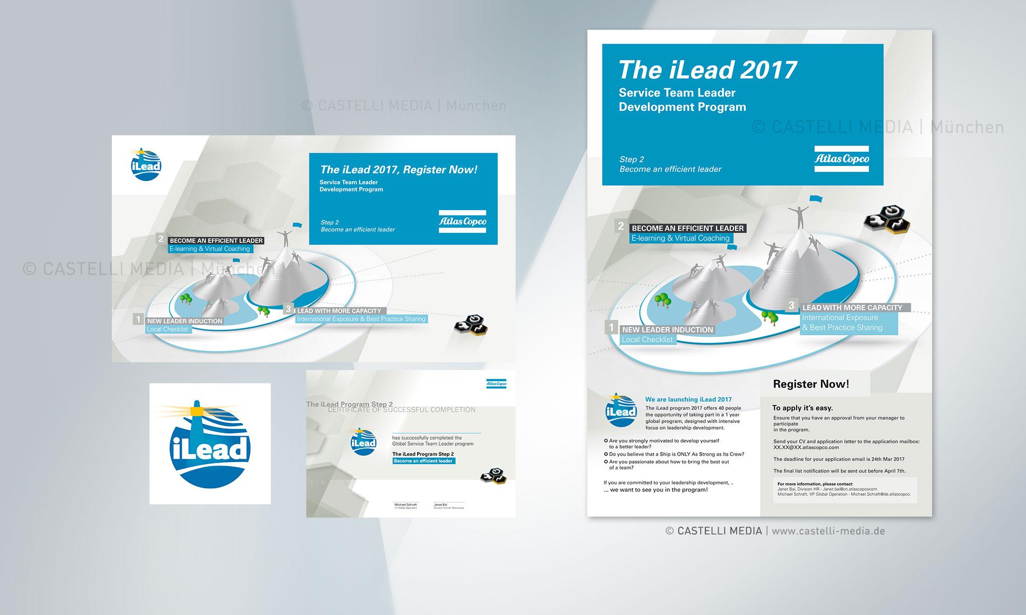 Infografiker für die iLEAD-Kampagne von Atlas Copco