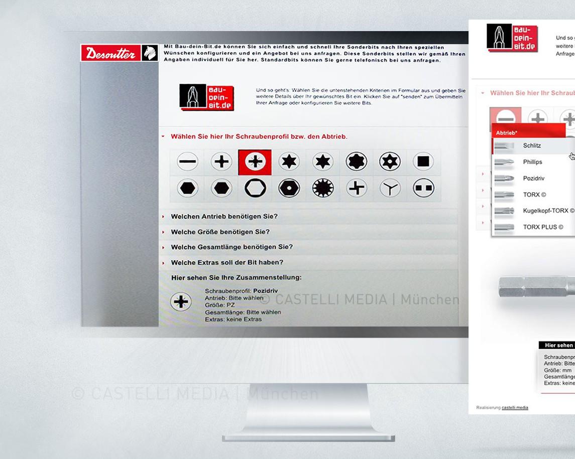 grafikdesigner entwicklung Webkonfigurator