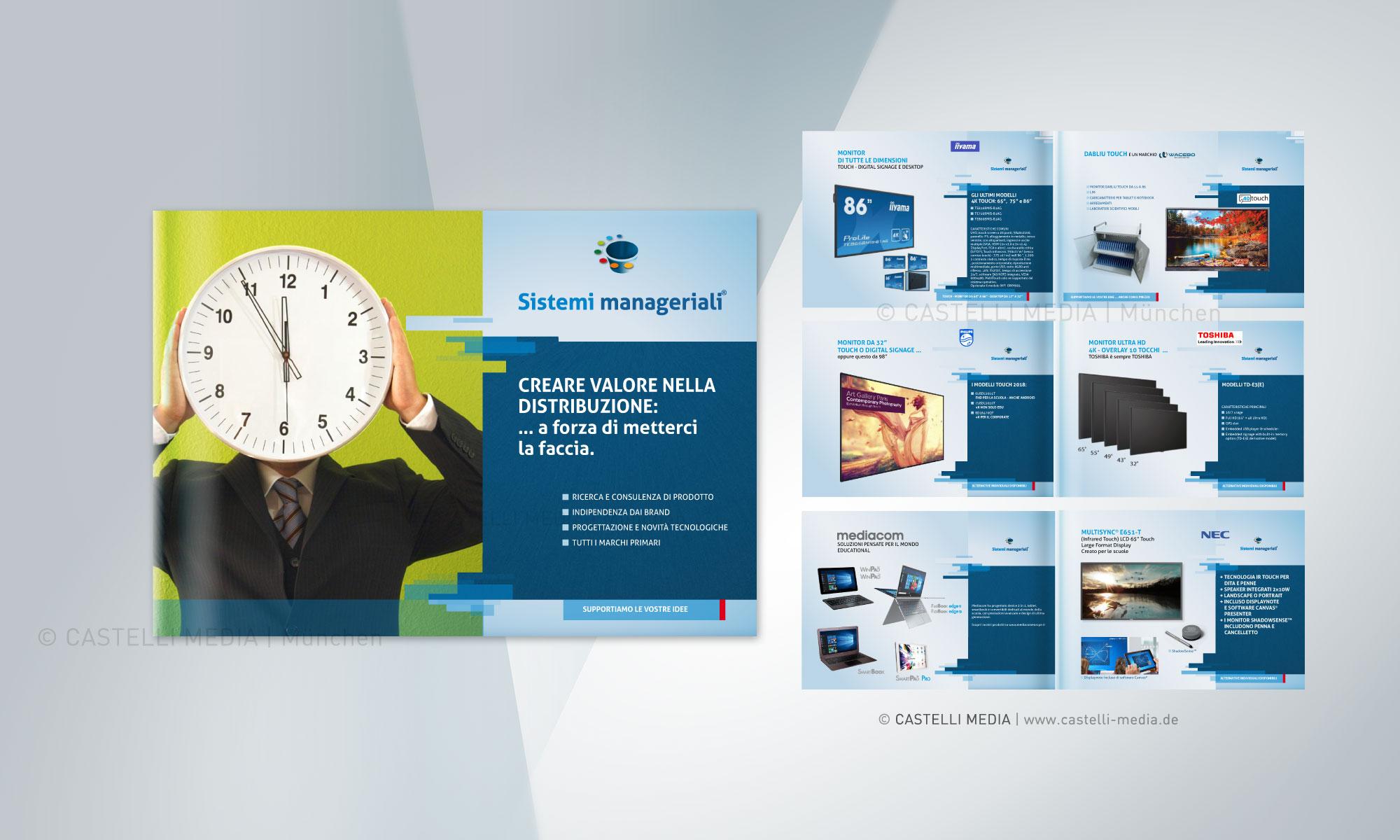 Sistemi Manageriali- Broschüre für Messe Besucher