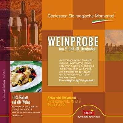 Einladung Weinprobe München
