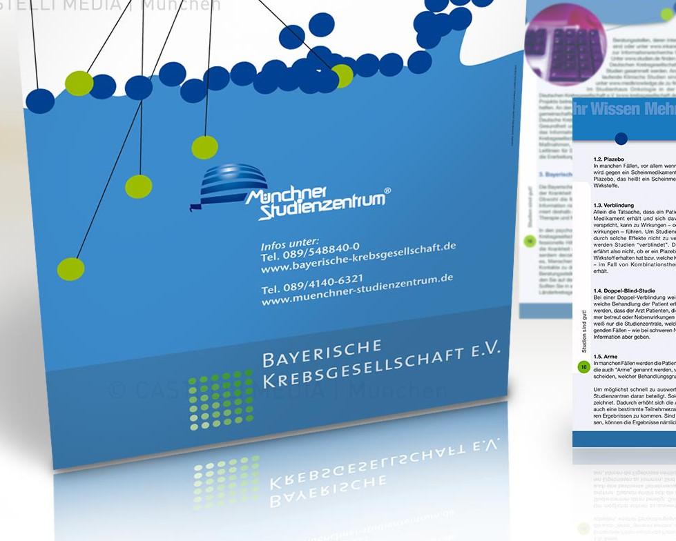 Plakate und Broschüre für die eine Informationskampagne