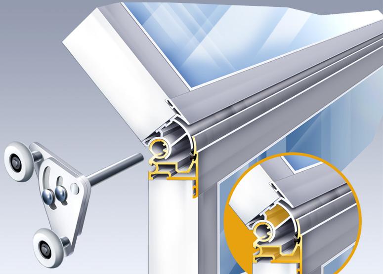 Technische Illustration 3D Fensterscharnier München
